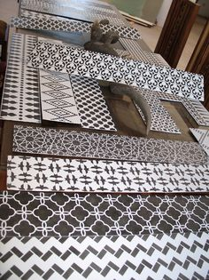 Cutting and customizing stair risers the easy way....Stenciled Stair Risers