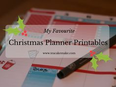 I thought I'd share with you some of my favourite Christmas themed printables and SVG files so your planner will look awesome over the holiday period!