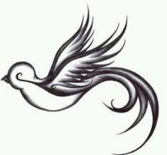 I love this artwork! The bird is beautiful and I think that it would make such a pretty tattoo!