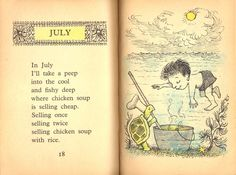 Related image Summer Poems, Nature Poem, Chicken Rice Soup, Poetry For Kids, Maurice Sendak, Kids Poems, Learn English Words, Rhymes For Kids, Book Week
