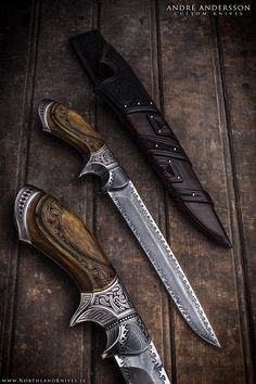 André Andersson Custom Damascus Knives - Knives, Daggers, Swords and Artknives…