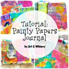 Painty Papers Journal Tutorial