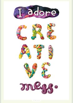Artist Finds Fun Ways To Create Colorful Letterings With Plasticine - DesignTAXI.com