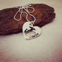 Marine Wife Necklace - Marine Corps Necklace - Marine Girlfriend - Marine Mom - EGA Heart Necklace - USMC Jewelry - Marine Wife Jewelry (24.00 USD) by SweetAspenJewels