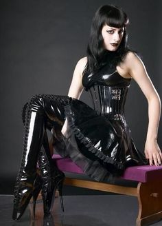 Ballet boots and latex
