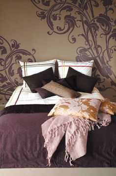 Purple Brown Bedroom With Gold Accents Inspiration For My Apt