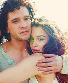 Game of Thrones cast (Kit & Emile) - but I think Dani and Jon will rule Westeros at the end of the series, so I love this pic as a foreshadow. :)