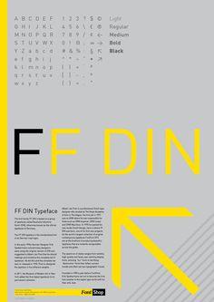 FF Din Poster by Tom Milburn, via Behance