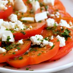 Side Dishes Easy, Side Dish Recipes, Healthy Dinner Recipes, Tomato Breakfast, Recetas Light, Marinated Tomatoes, Tomato Salad Recipes, Light Appetizers, Balsamic Dressing