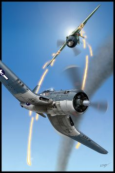 Corsair vs A6M-52 Hei by Hikaru84.deviantart.com on @deviantART