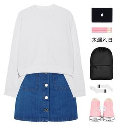 """""""//i've been thinking 'bout ways that i wanna hold you close//"""" by abby-kadabra ❤ liked on Polyvore featuring Miss Selfridge, Converse, Acne Studios, Rains and Monki"""