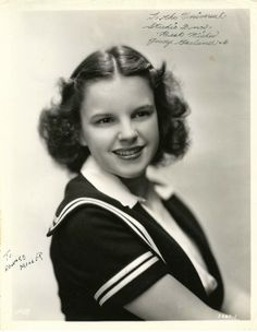 EARLY JUDY GARLAND SIGNED PHOTO