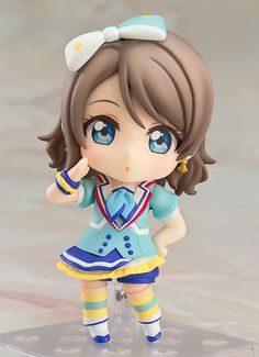 "[10X TOM Points ITEM BONUS]Pre-order by Dec. 2, 2016 at 12 midnight (PST) to earn a 10X TOM Points Item Bonus on this item! ""All aboard!! Full speed ahead!!""From the anime series Love Live! Sunshine!! comes a Nendoroid of the Aqours member You Watanabe wearing her outfit from the song ""Aozora Jumping Heart""! She comes with both a standard expression as well as a playful winking... #tokyootakumode #figure #Love_Live_Series"