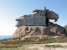 """This bunker is located above the pacific ocean at a part of the coast called """"devil's slide"""" few miles south of San Francisco. Abandoned Buildings, Abandoned Places, Colani, Bunker Hill, Old Building, Fortification, Urban Exploration, Brutalist, Photos"""