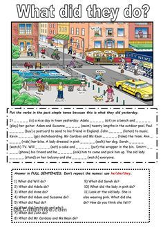 The past simple tense with a picture