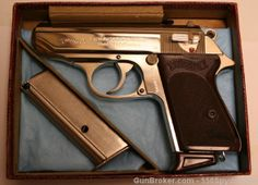 Ho Lee Chit. Walther PPK Nickel .380 West Germany 1967.. If only I had an extra $1300 in my gun fund.