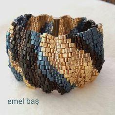 Triangle miyuki bracelet by Emel Bas from Turkey