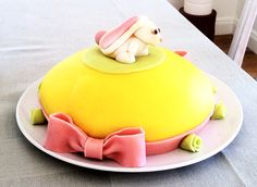 Last year's easter cake! Strawberry Cream Cakes, Easter Bunny Cake, Catering Business, Marzipan, Sweet Tooth, Sweets, Magic, Baking, Desserts