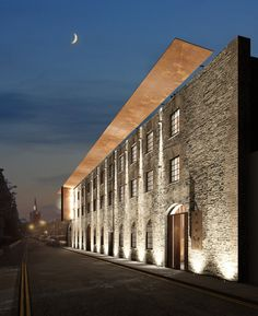 Craft Distillery | Jules O'Reilly - Exterior lighting & signage. Revit 2015 cloud rendering with Photoshop post production.