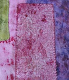 Mixed Media Artist: Painted fabric quilt - part three