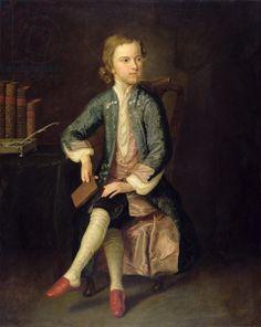 Portrait of Thomas Gray (1716-71) c.1731 (oil on canvas)