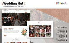 Wedding Hut Website Template Cake Templates, Wedding Templates, Planner Template, Wedding Website, Website Template, Wedding Planner, Photoshop, Video Tutorials, Mixed Media