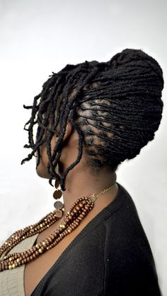 Embracing the Culture of Locs & Textured Hair — A French Twist is one of my favorite styles,. Dreadlock Styles, Dreads Styles, Updo Styles, Dreadlock Hairstyles, African Hairstyles, Easy Hairstyles, Long Hair Styles, Natural Hairstyles, Dreadlock Rasta