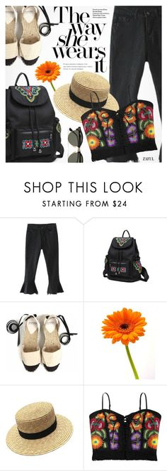 """Festival"" by pokadoll ❤ liked on Polyvore featuring Chanel and Ray-Ban"