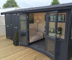 Browse Online for a Garden Studio with Malvern Garden Buildings Shed Office, Backyard Office, Backyard Sheds, Garden Office, Contemporary Garden Rooms, Bar Shed, Garden Cabins, Summer House Garden, Timber Roof