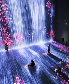 In Paris, teamLab's interactive and immersive installations will take you … - Modern Light Art Installation, Installation Interactive, Interactive Exhibition, Interactive Art, Exhibition Space, Interactive Projection, Art Installations, Tech Art, Tech Tech