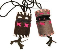 Indianer-Trophäenbeutel - Kindergeburtstag Indianer Medizinbeutel - Die sind doch cool! So etwas ähnliches könnte ich sicher auch selbst machen!