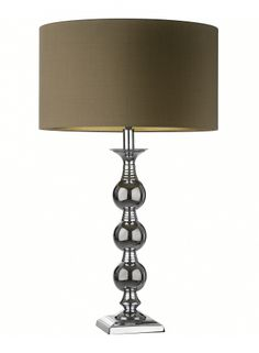Broxburn Chrome Table Lamp | Classic and timeless – this solid table lamp is cast in brass and finished in polished chrome.