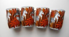 1960's Jungle Fever Mug Set by GiddyGirlVintage on Etsy