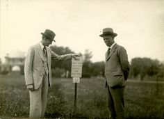 June 1927 - H.W. Mumford with John Russel at limed soil experiment field.
