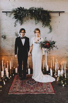 Moody ' Industrie-Styled Wedding Shoot #Hochzeit #IndustrieStyled #Moody #schießen