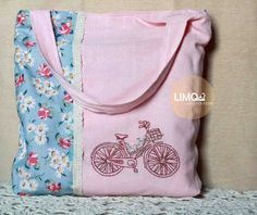 Bicycle | 90K | bahan: kain tenun ikat ATBM [alat tenun bukan mesin], renda, katun | check this limo-made.blogspot.com #handmade #totebag #limitededition #semarang #indonesia #limomade