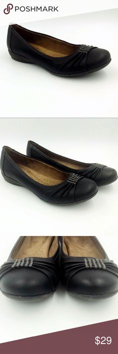 Clever Natural Soul By Naturalizer Womens Shoes Leather Size 9 Ballet Slip-ons Black Hot Sale 50-70% OFF Comfort Shoes