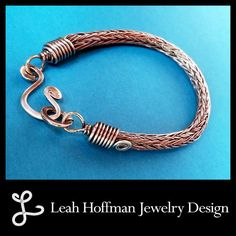 Sterling Silver Trichinopoly Viking Knit Bracelet (Made to Order, please allow 2-4 weeks)