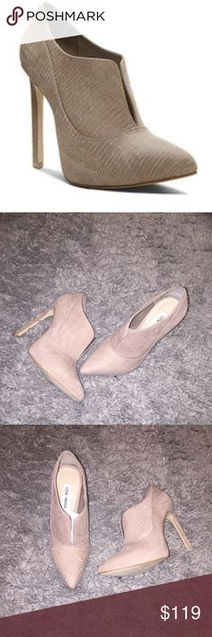 Suede Leather Booties SM Beige suede leather booties. Never worn. Markings on the bottom of shoe (nothing major) I bought the last pair in store. Steve Madden Shoes Ankle Boots & Booties