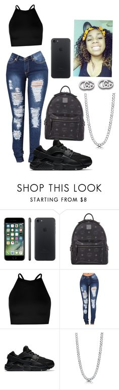 """Untitled #346"" by raevynn324375 ❤ liked on Polyvore featuring MCM, Boohoo, NIKE, BERRICLE and Gucci"