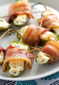 You can't go wrong with jalapenos, cheese and bacon, right? This super-easy appetizer comes together quickly with just four ingredients, and skewers make serving a cinch. Click through for the instructions and step-by-step photos.