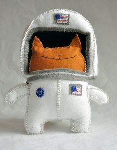 Felt Astronaut Cat
