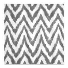 Funky Fuzzy Gray Zigzags Shower Curtain
