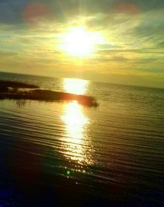 Sun setting on Rappahannock River