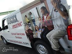 New van and new graphics for Beacock Music.