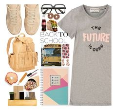 Back to School by drigomes on Polyvore featuring moda, Être Cécile, Maison Margiela, Ropin West, Oscar de la Renta, ZeroUV, Forever 21, Burberry, Jayson Home and ASOS