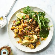 Whip up this main dish salad recipe for dinner or lunch for a filling, veggie-packed meal. Our wild rice and roasted corn salad includes walnuts, fresh basil and avocado. Delicious!