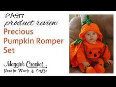 Maggie's Crochet · Precious Pumpkin Romper Set Crochet Pattern