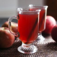Fruity, spicy and deliciously comforting.  The perfect drink to warm up to these chilly months.