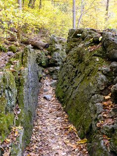 Passage through the rocks. Ha Ha Tonka State Park, Lake of the Ozarks, Missouri
